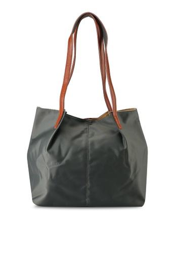 NUVEAU green Oxford Nylon Tote Bag E98DBACF8CEAE0GS_1