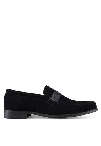 ZALORA black Faux Leather Slip On Dress Shoes E31BBSH2302E4FGS_1
