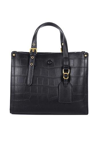Twenty Eight Shoes black VANSA Fashion Crocodile Leather Tote Bag VBW-Tb2897 A6B26ACB76C492GS_1