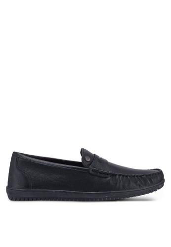 Carlton London black Slip On Loafers 18B7FSH8022F9BGS_1