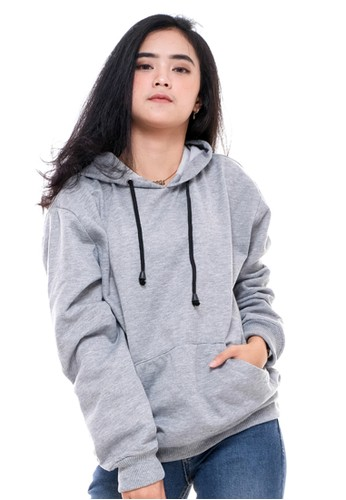X Urband grey Sweater Casual Grey A058 EE2FEAAC9D81F6GS_1