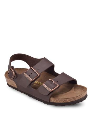 Milano 扣環esprit 台灣門市繞踝平底涼鞋, 女鞋, 涼鞋及拖鞋