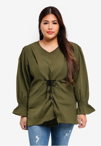 CURVA FABULOUS green Bellerina Princess Top 73C88AA1BC22A7GS_1