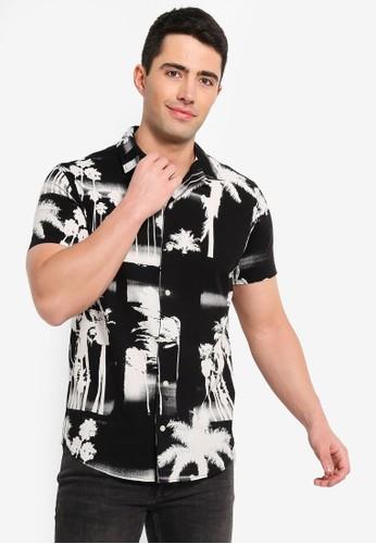 Jack & Jones black Harvey Graphic Short Sleeve Shirt 14D4DAAEC70162GS_1