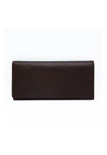 EXTREME brown Extreme Genuine Leather RFID Long Wallet AEF29ACB75E621GS_1