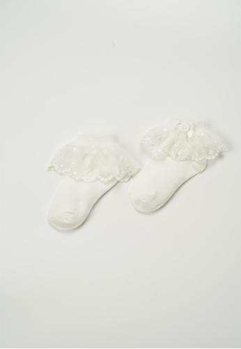 Treehouse beige Lace Ankle Socks B2D7EKAF668EA8GS_1