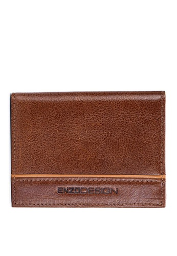 ENZODESIGN brown Leather Slim Bifold Card Holder (With Hidden Side Pockets) 66453ACC45C565GS_1