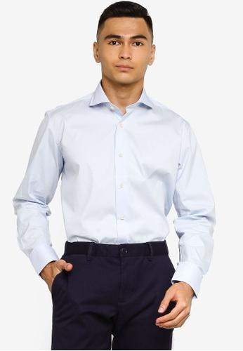 Sacoor Brothers blue Regular fit super comfort easy iron shirt 936D0AAF440EB6GS_1