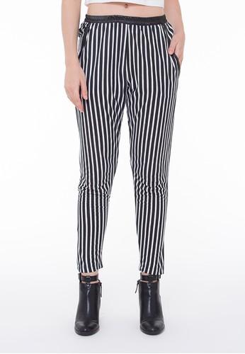 Rave Habbit - Long Pants Stripe Black