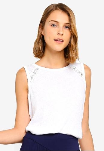 29d0083a59fa07 Buy GAP Linen Lace Top Online on ZALORA Singapore