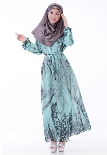 SMROCCO green Muslimah Green Batik Jubah Dress MW6011-GRE SM066AA27NHGMY 1 5d70bc60e4