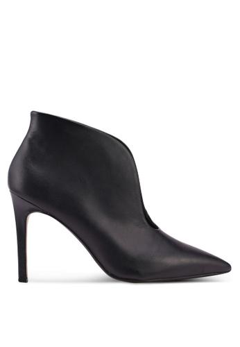 Mango black Slit Leather Ankle Boots 4C26BSH9372D8BGS_1