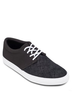 Embossed Toe Cap Sneakers