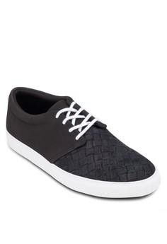 Embossed Toe Cap Sneakers