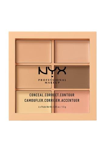 NYX Professional Makeup multi NYX Professional Makeup 3C Conceal, Correct, Contour Palette - Light 8B13CBE4CE2B1EGS_1