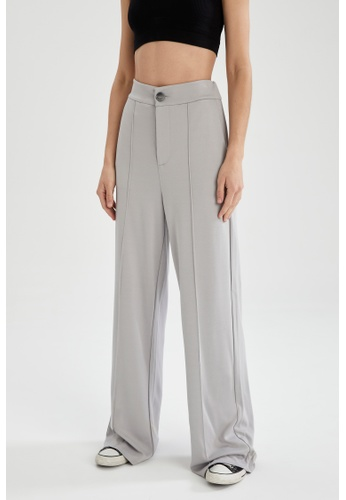 DeFacto grey Woman Woven Trouser F4996AAB4F7BBDGS_1