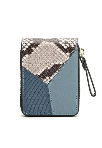 HAPPY FRIDAYS Color Matching Snake Texture Leather Wallet JN8622 62811ACACF5ED8GS_1