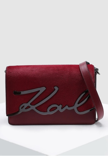 94fb973ce223e9 Shop KARL LAGERFELD Signature Luxe Crossbody Bag Online on ZALORA  Philippines