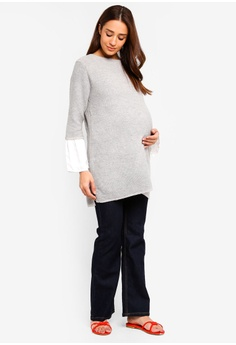 ff0c8943e1ee8 82% OFF JoJo Maman Bébé Maternity Fluted Cuff Jumper S$ 92.90 NOW S$ 16.90  Sizes M