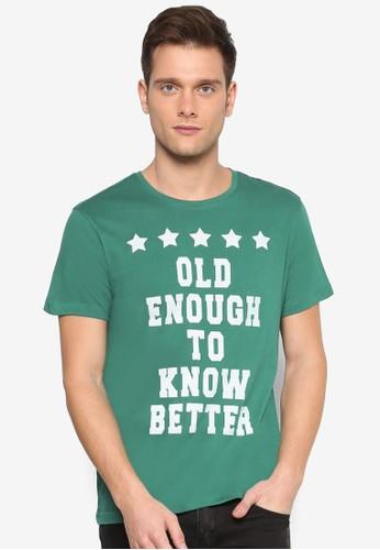 文字印花圓領短袖TEE, esprit專櫃服飾, 印圖T恤