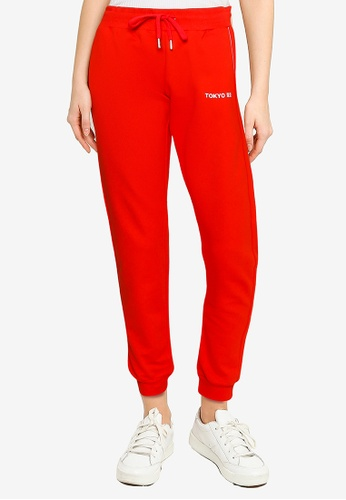 LC Waikiki red Letter Printed Jogger Sweatpants 0CC35AA2D84BC1GS_1