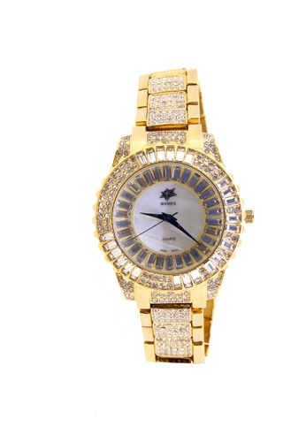 Sk Time Watch Shop multi Japan Design 18K Gold Plating with Crystal Star Dial and Crystal Band Watch SK518AC42TQZPH_1