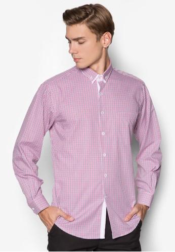 格紋長袖esprit 面試商務襯衫, 服飾, 服飾