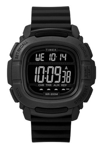 Timex black Timex Command 47mm - Black Case & Silicone Strap (TW5M26100) 139F5AC8C89095GS_1