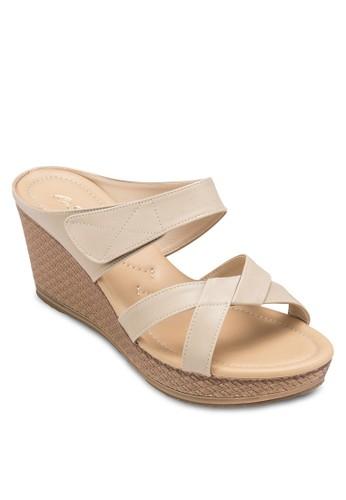 多帶楔esprit 鞋型跟涼鞋, 女鞋, 楔形涼鞋