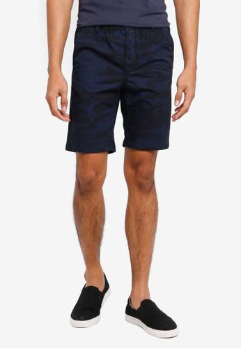 MANGO Man blue Elastic Waist Bermuda Shorts D48C8AACD3F3CAGS_1