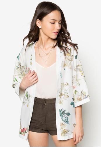 花卉和風開襟外套, 服飾, 長褲及內zalora 心得搭褲
