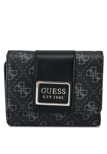 Guess black and grey Tyren Small Trifold Wallet 922B9AC0150FA9GS_1