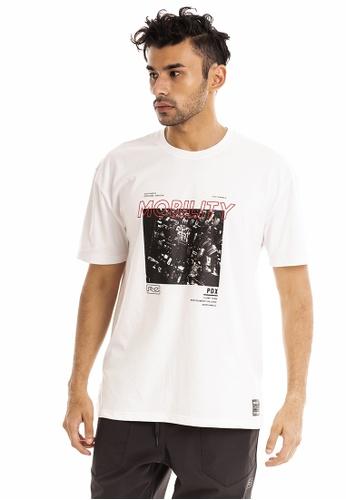 RYZ white RYZ Cityscape Graphic White Short Sleeve T-Shirt. 591CEAA8EEAA87GS_1