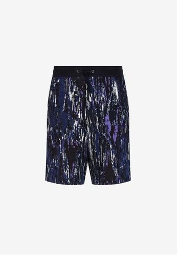 Armani Exchange navy AX Armani Exchange Men Patterned Bermuda Shorts - Spring & Summer 2021 Collection EBA2EAA0AEB43EGS_1