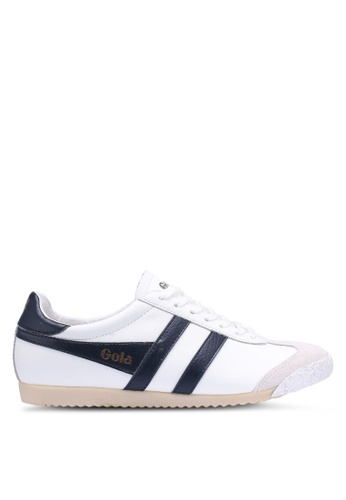 Gola white and navy Harrier 50 Leather Sneakers ACC2FSH48B3DF0GS_1