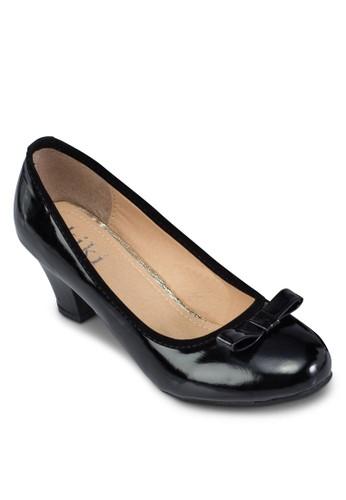 漆皮蝴蝶結高跟鞋,esprit專櫃 女鞋, 鞋