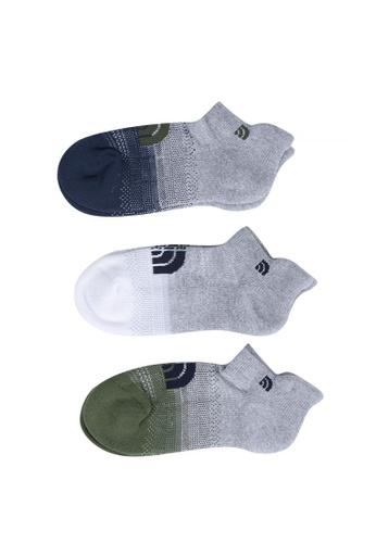 The North Face multi TNF Travel Sock 3 Pack-Ap TNF Light Grey Heather/Four Le AAFDBACAEE9A26GS_1