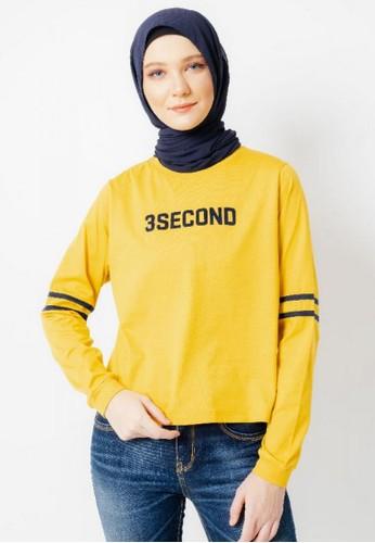 3SECOND yellow Women Tshirt 201220 44A0BAA9295C6EGS_1