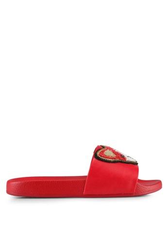 ALDO red Grini Beach Sandals E4B0FSH6843489GS_1