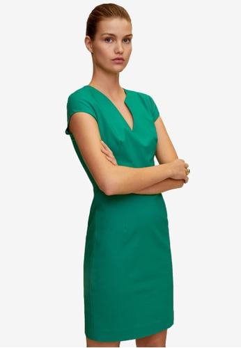 Mango green Pencil Dress 997ABAA1C6AAACGS_1
