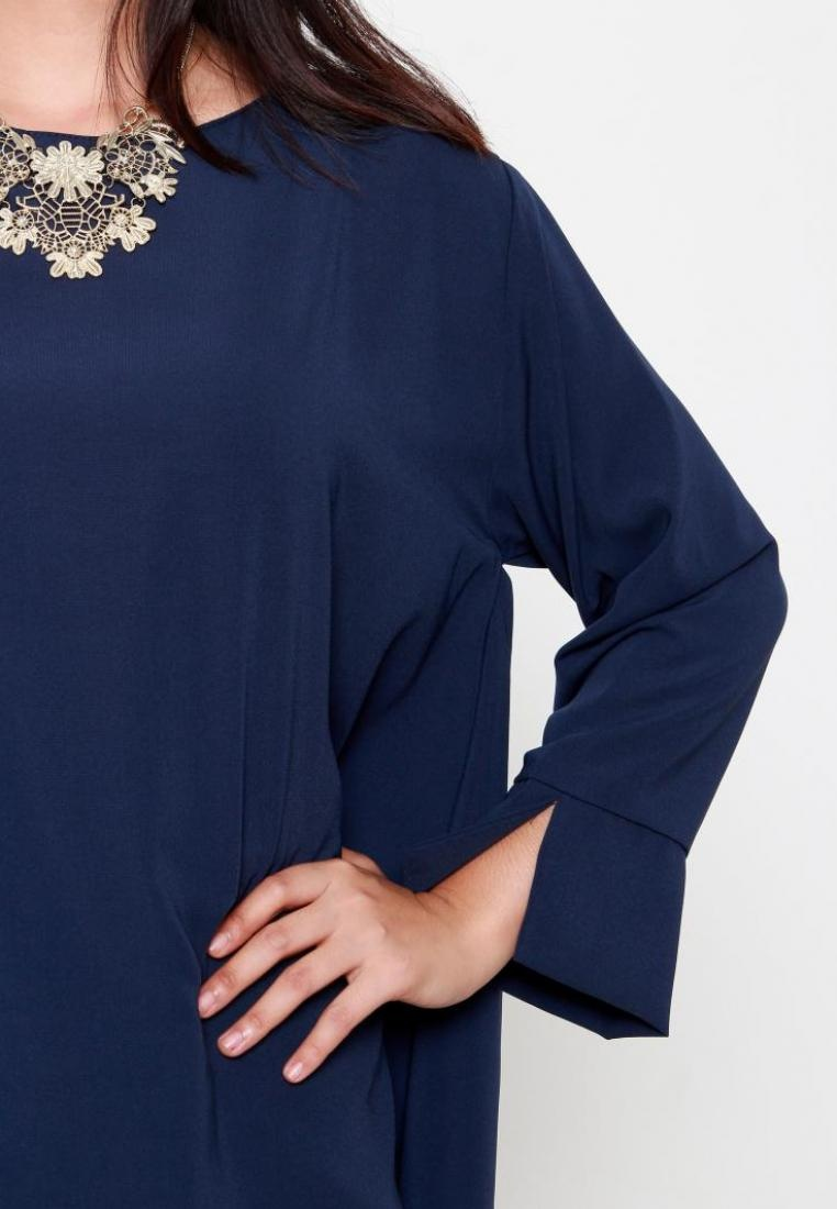 Megan Collection Naphthys Blouse Navy Naphthys Collection xq14wzF1