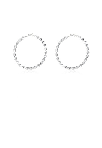 Glamorousky silver Simple and Fashion Round Twist Earrings 8F10EAC98A3A22GS_1