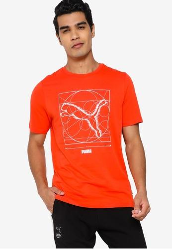 PUMA orange Renaissance Cat Men's Tee 28FB9AABAE51E3GS_1