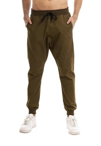 RYZ green RYZ Slim Fit Khaki Woven Joggers 2.0. 8E32EAA6CEA3A2GS_1