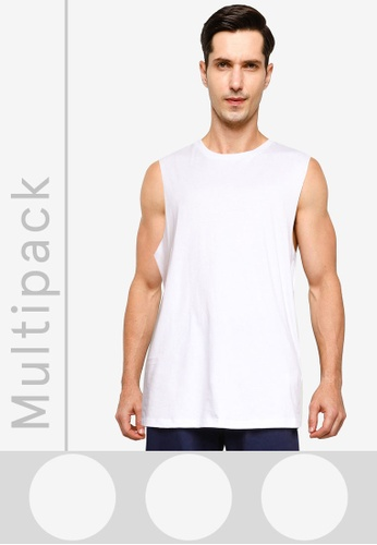 Cotton On white Essential Muscle Tank Top - 3-Pack 6E339AAAE96EA1GS_1