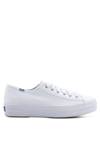 e50a94fd35eaf Keds white Triple Kick Canvas Sneakers 8FA19SH9C921A0GS 1
