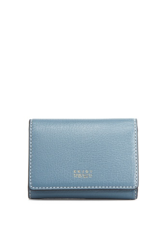 Enjoybag blue Smart Core Italian Goat Leather Card Holder EN763AC2UOX4HK_1