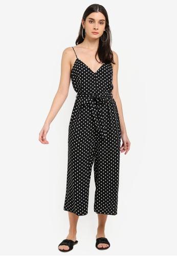ea80de37d0c Miss Selfridge black Black Spot Slip Jumpsuit AAB19AAF6DB61BGS 1