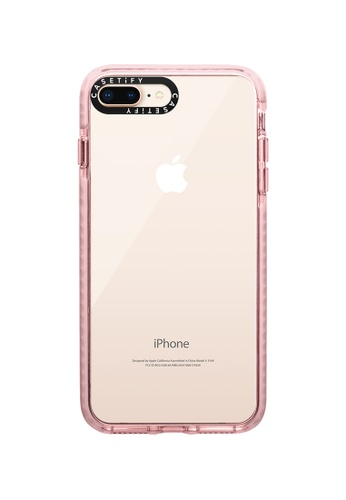 Casetify pink Impact Protective Clear Case for iPhone 8+/ iPhone 7+ – Pink E4C42AC2A9F7D7GS_1