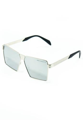 Amora Scarlett Roaring Beast Oversized Silver Matte Lens Silver Frame Eyewear 42FEBGL0FAA3F2GS_1